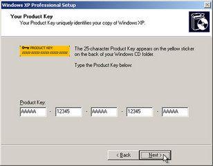 serial key for windows xp pro sp2