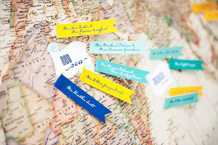 Seating Chart World Map TravelThemed Weddings Pinterest - World map sepia toned