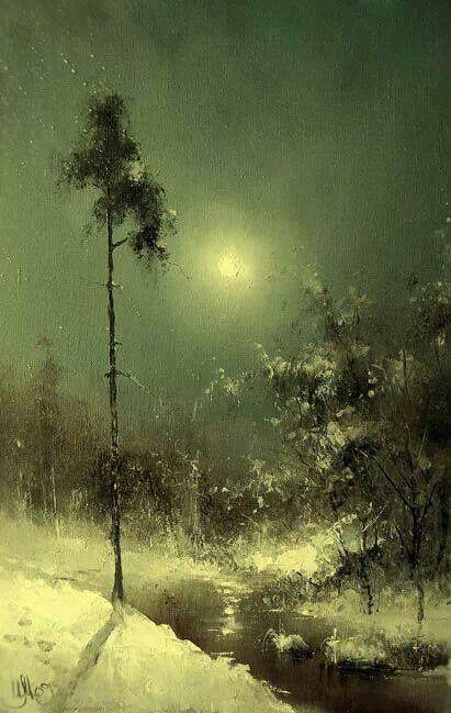 Igor Medvedev | Winter landscape, Landscape paintings ...