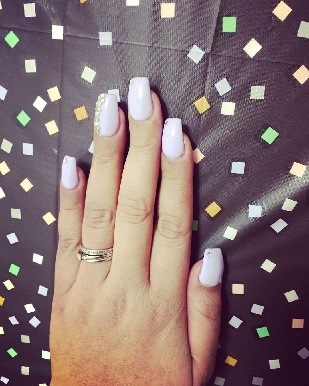 New Years flare, coffin shape, pastel . Lavender #elegantnails ...