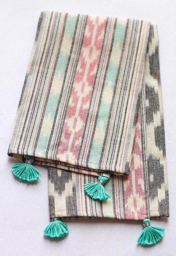 Tea Towel Dish Towel Kitchen Napkin Table By Handmadetalks Con Imagenes