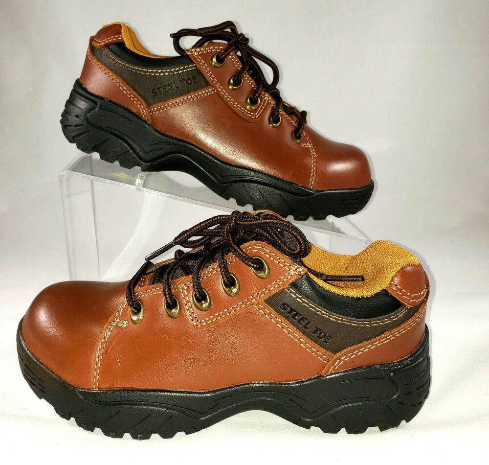Herman Survivors Raylen Cognac Steel Toe Work Shoes