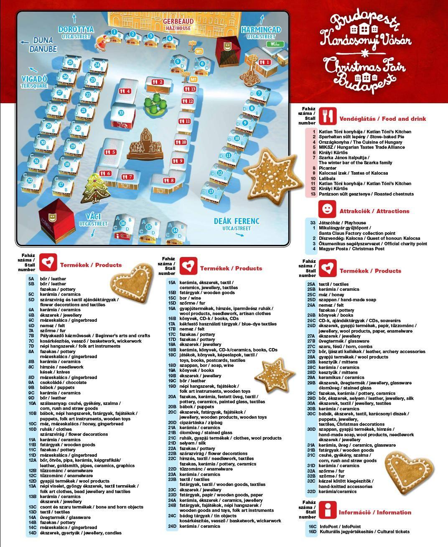 Budapest Christmas Markets Map.Market Map Of Budapest Christmas Fair Vorosmarty Square