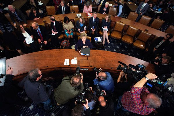 Benghazi Panel Engages Clinton in Tense Session - The New York Times