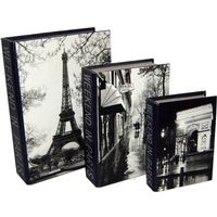 Book Box Canvas Weekend In Paris Set Of 3 Wholesale Giftware Homewares