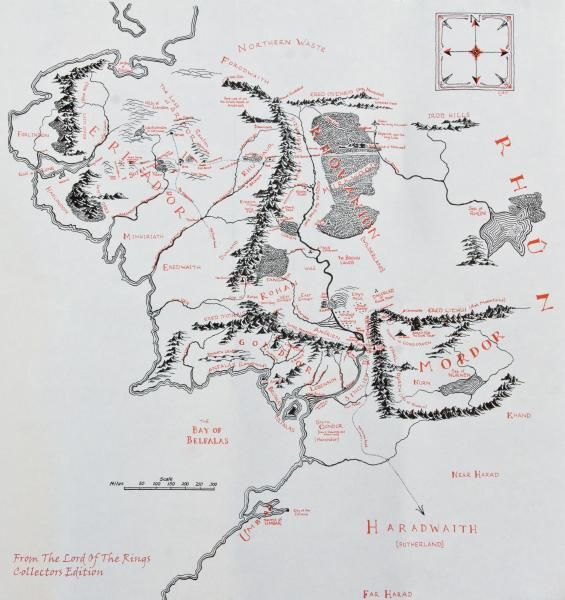 Lord Of The Rings Map Realms of Middle Earth Pinterest Lord