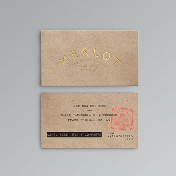 What a lovely business card, quite a cool Mexican feeling too. Merlot Tijuana on Packaging Design Served