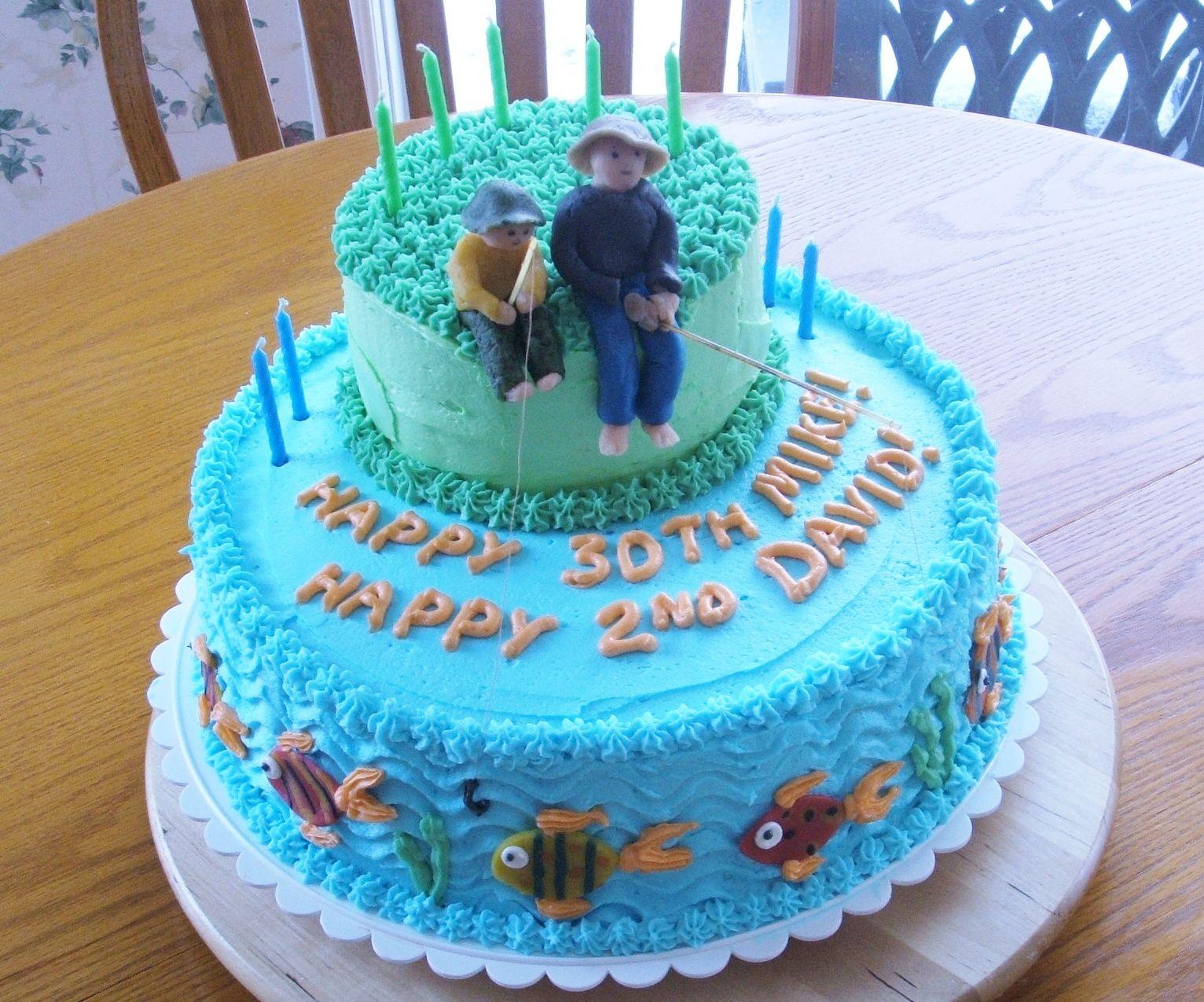 Father Son Fishing Cake Cake Birthday Cake Birthday Cake Images