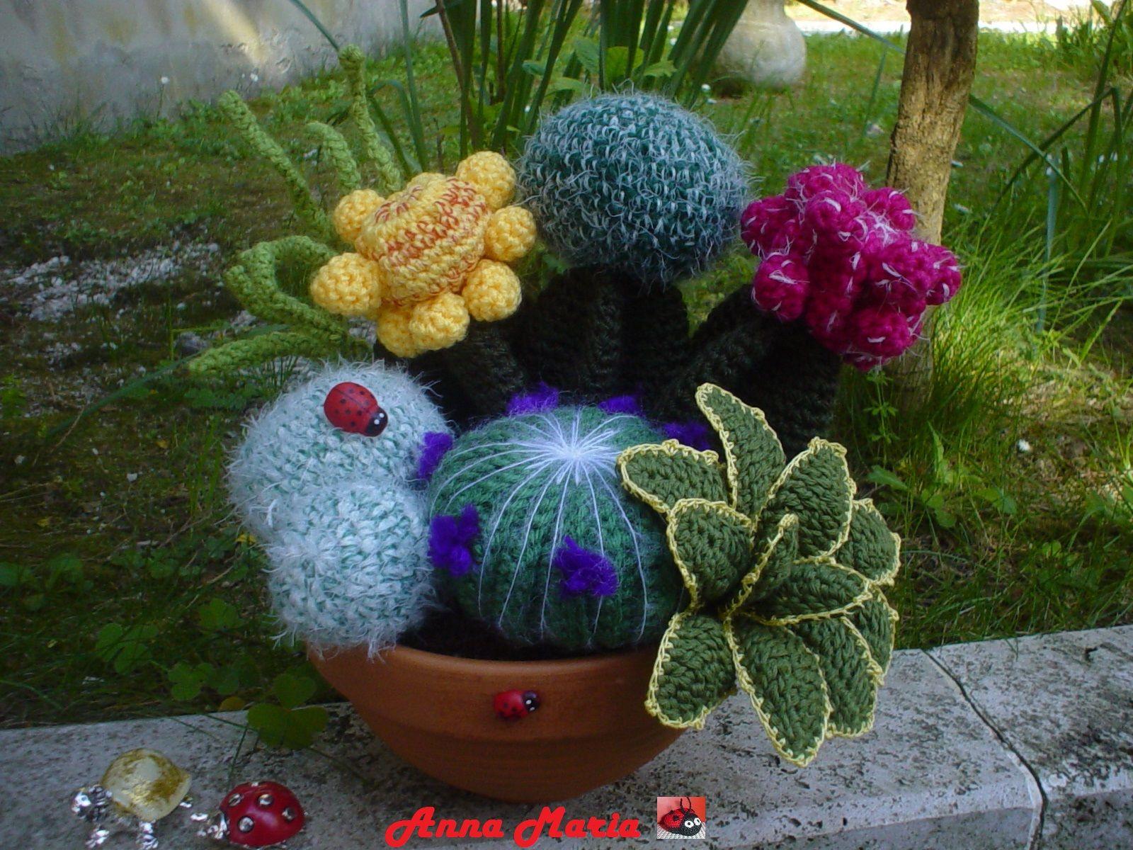 Pianta grassa all'uncinetto - Succulent plant - YouTube | 1200x1600