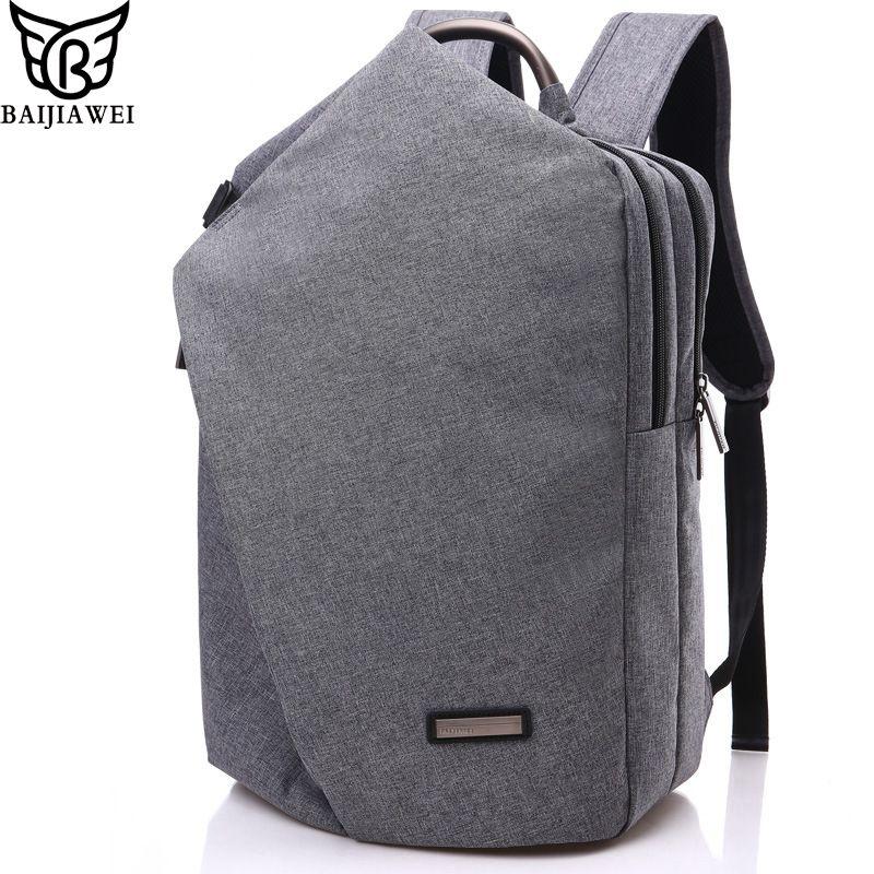 BAIJIAWEI 2017 Fashion Design Men Backpacks Casual Bussiness Bag Big Capacity Travel Bags 15.6 inch Laptop Backpack Mochila Zip #Affiliate