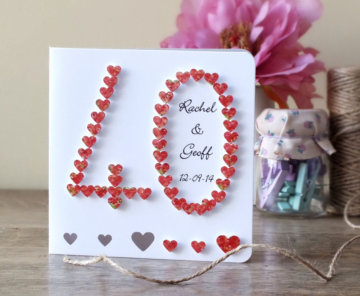 Image result for wedding anniversary 40th cards homemade for Anniversary craft ideas for parents
