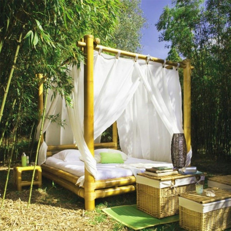 home decoration, romantic canopy design made from bamboo with