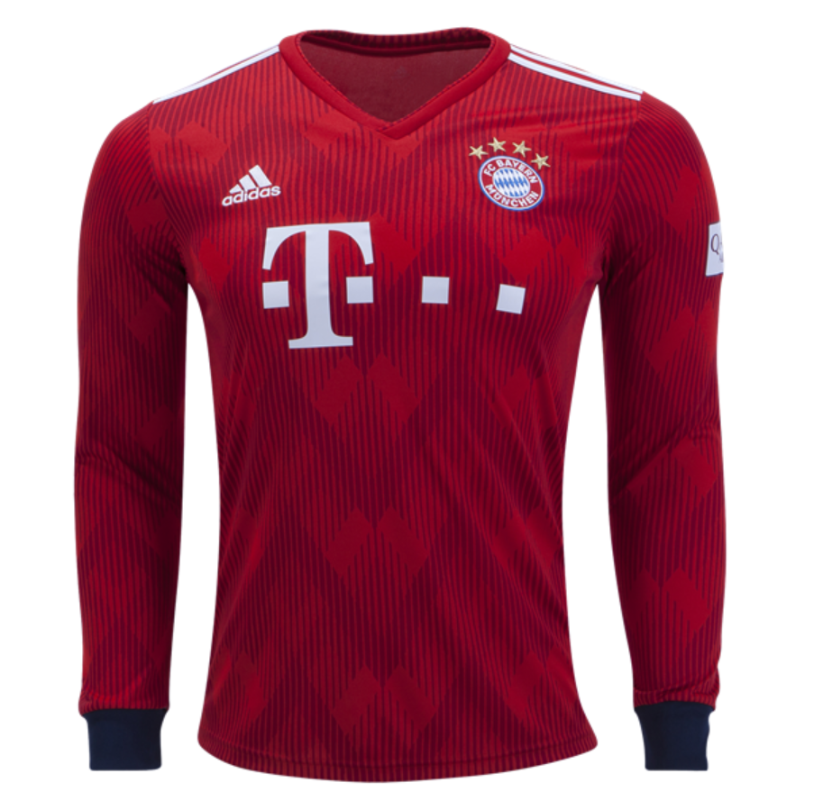 timeless design 1d634 17686 Bayern Munchen 18/19 Home Long Sleeve Men Soccer Jersey ...