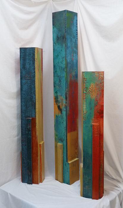 tempo 1 2 3 pylons by karen jacobs arte abstracto pinterest kugeln acryl und holz bemalen. Black Bedroom Furniture Sets. Home Design Ideas