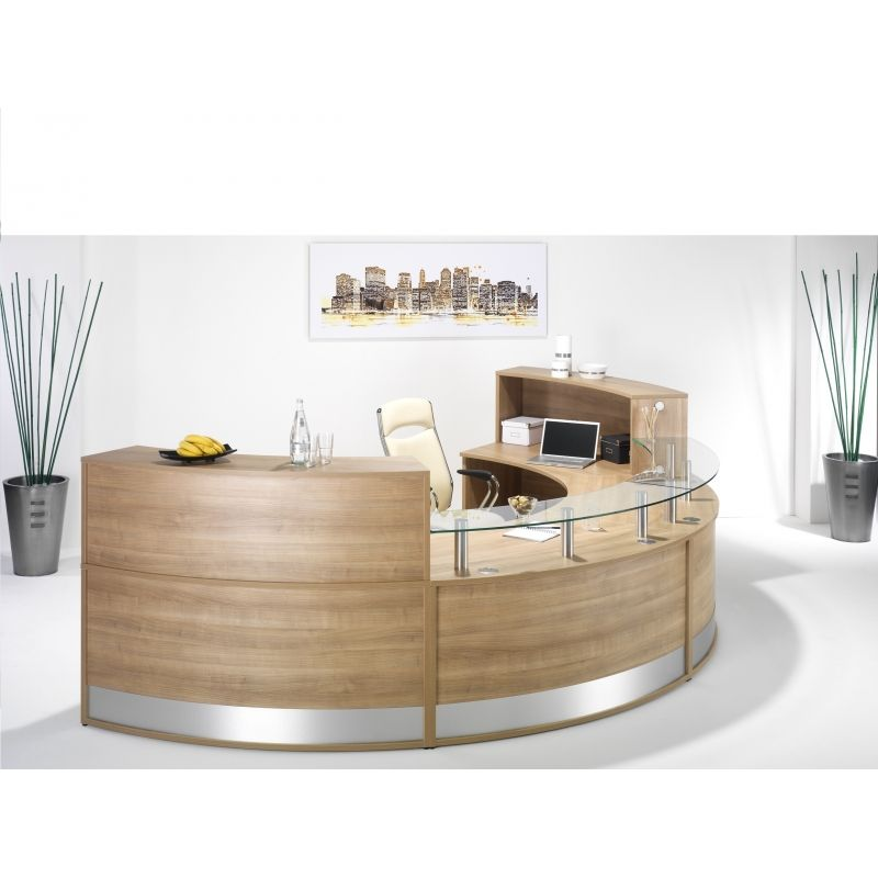 reception office desks. semi circle office desks would be great for a reception desk g