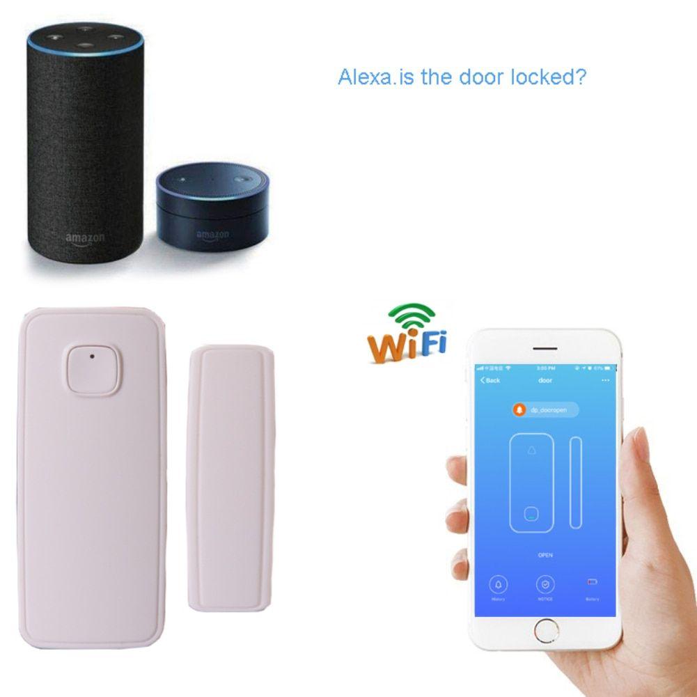 Wireless Smart Door Sensor Detector Compatible Alexa Google Home Ifttt Voice Assistant Work Independently 4g Wireless Alexa Wireless