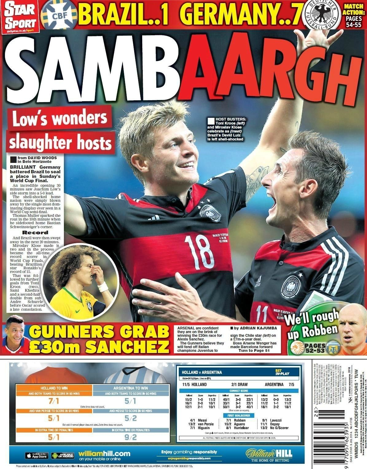 Brazil Germany World Cup Headlines Das Booted And More