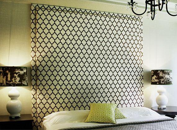 wandgestaltung schlafzimmer mit gepolsterter Rückwand - wandgestaltung im schlafzimmer