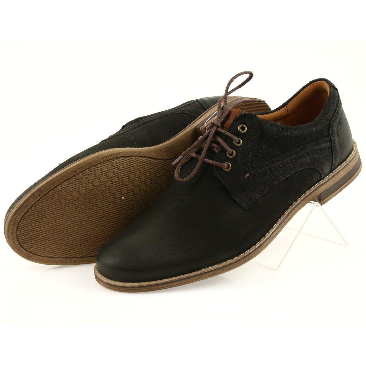 Riko Polbuty Buty Meskie Wiazane 831 Czarne Brazowe Mens Casual Shoes Shoes Martin Shoes
