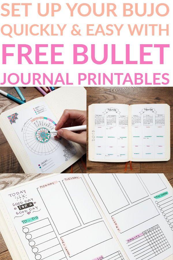 Free Bullet Journal Printables That\u0027ll Make Your Bujolife Easier