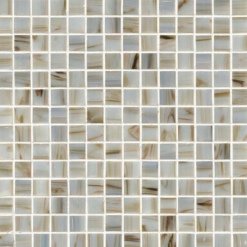 Iridescent Ivory Glass 3 X2f 4x3 X2f 4x4 Mm In 12x12 Mesh Glass Backsplash Tile Mosaic Tiles Mosaic Glass Iridescent Glass Tiles
