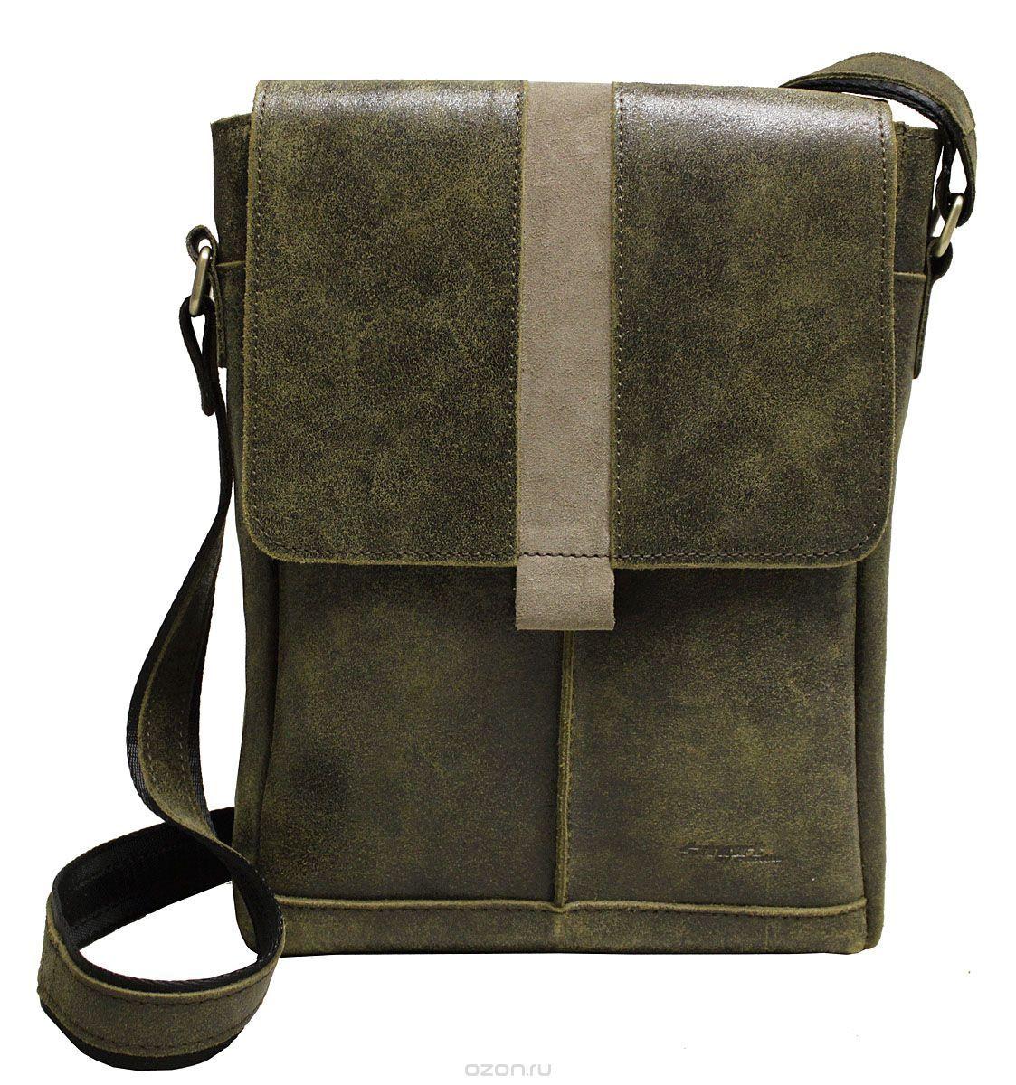bb9de3f7437d Сумка-планшет молодежная мужская Edmins Smart by Edmins, цвет  зеленый.  13С626КОЗ -