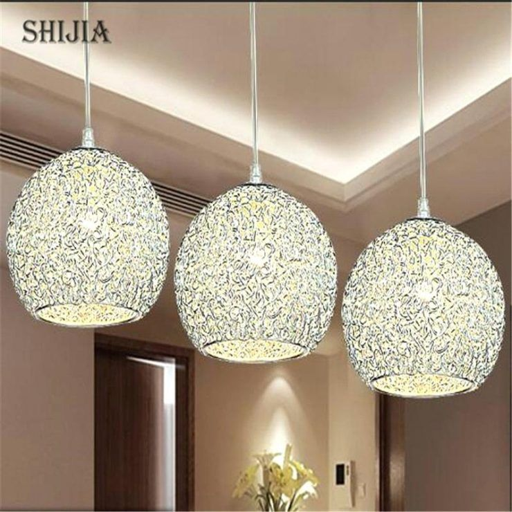 White Drum Shade Crystal Chandelier Pendant Light Chrome With Beaded