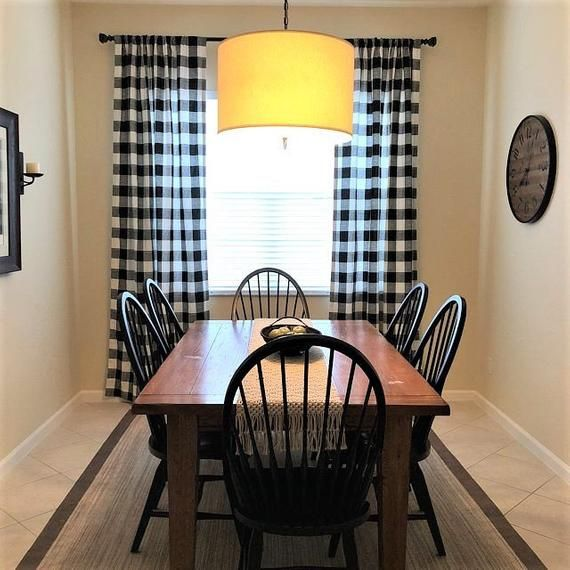 black and white buffalo check curtains farmhouse plaid 24 width and 50 width options rod on farmhouse kitchen curtains id=92035