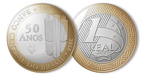 Nova Moeda De 1 Real Alusiva Aos 50 Anos Do Banco Central Do