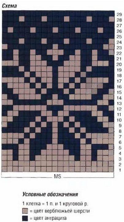 норвежские узоры спицами Knit örgü жаккардовое вязание