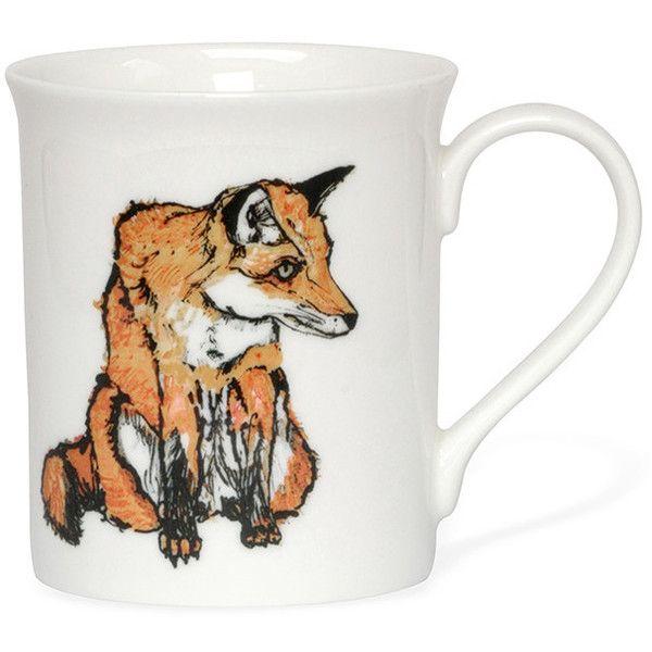 Katie Spragg Romeo Fox Mug (35 BRL) ❤ liked on Polyvore featuring home, kitchen & dining, drinkware, orange, animal mugs, bone china tea mugs, handmade mugs, bone china and tea mugs