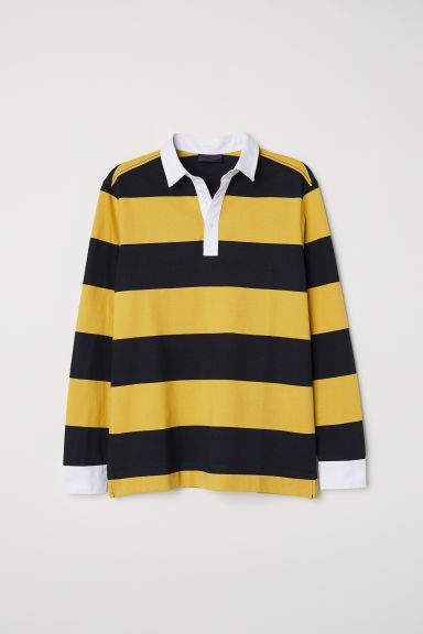 Rugby Shirt Yellow Striped Shirt Long Sleeve Rugby Shirts