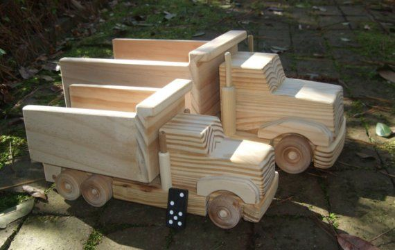 Awesome wooden dump truck!