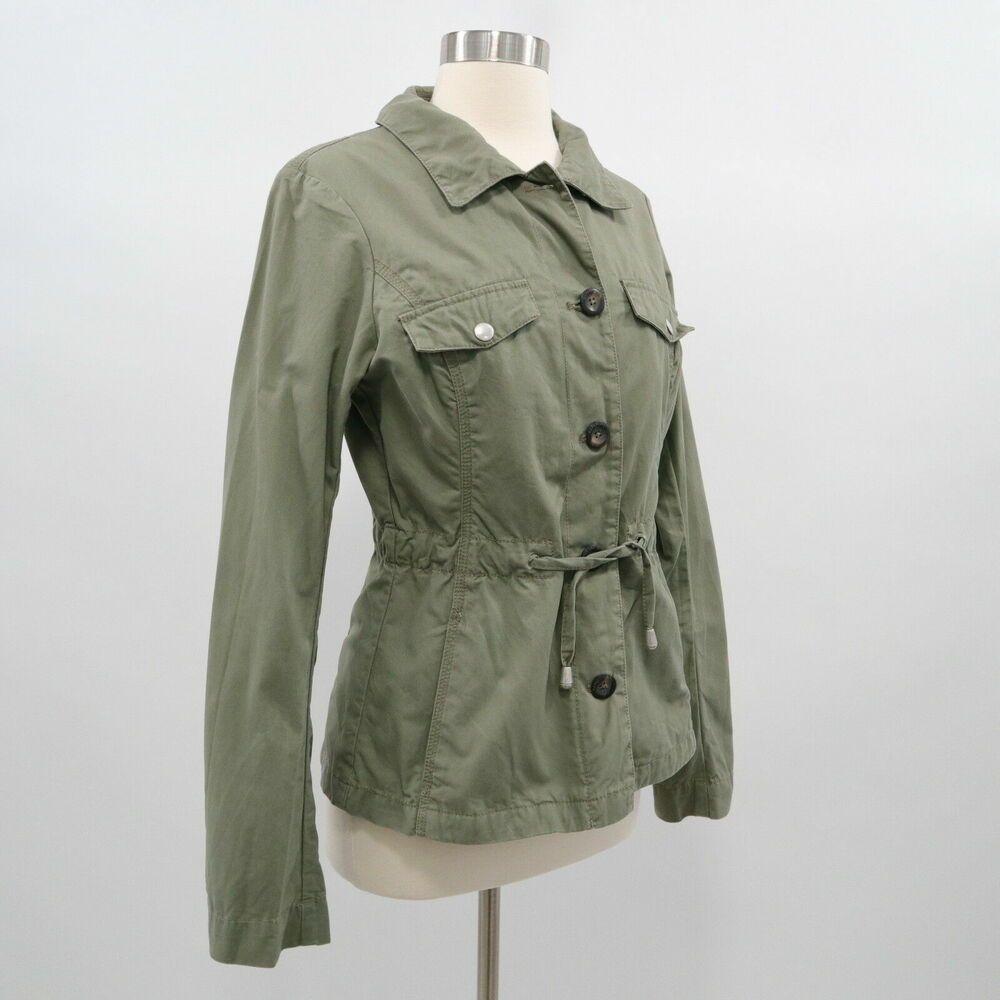 Napapijri Utility Jacket Womens S Small Military Olive Green Drawstring Napapijri Military Casual Coats Jackets Women Jackets For Women Hoodie Fashion [ 1000 x 1000 Pixel ]