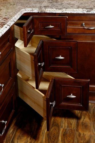 Camden Coffee 3 Drawer Base Corner Cabinet | RTA Kitchen ...