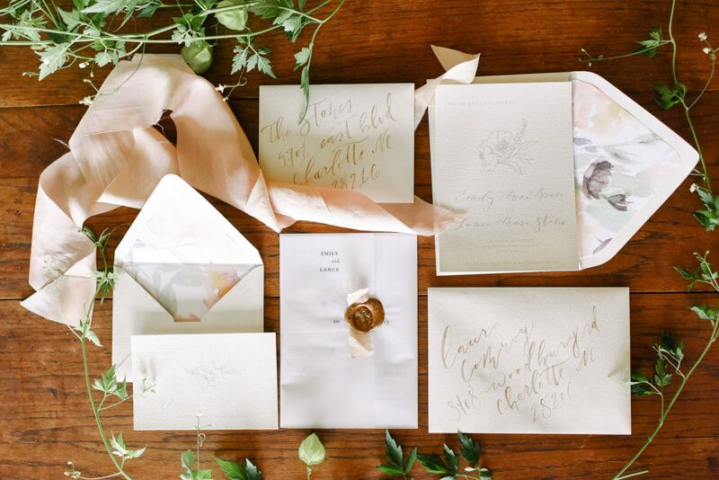 wedding invitation suite from The Barn at Madison Farms ...
