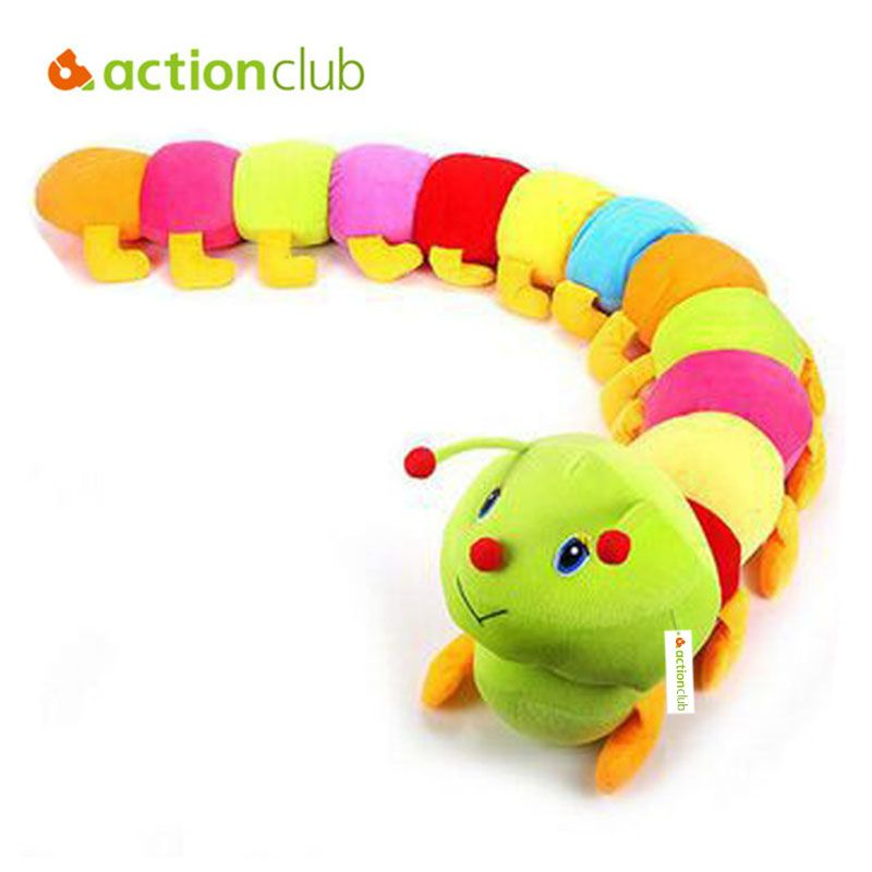 Multicolor Inchworm Soft Caterpillar Cute Developmental Baby Children Kids Toy