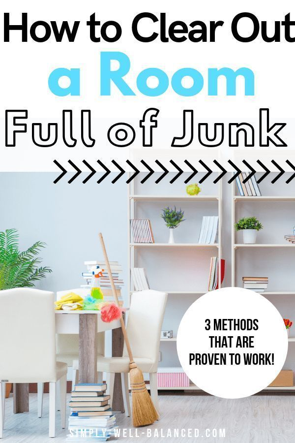 How to Clean Out a Room Full of Junk #declutter