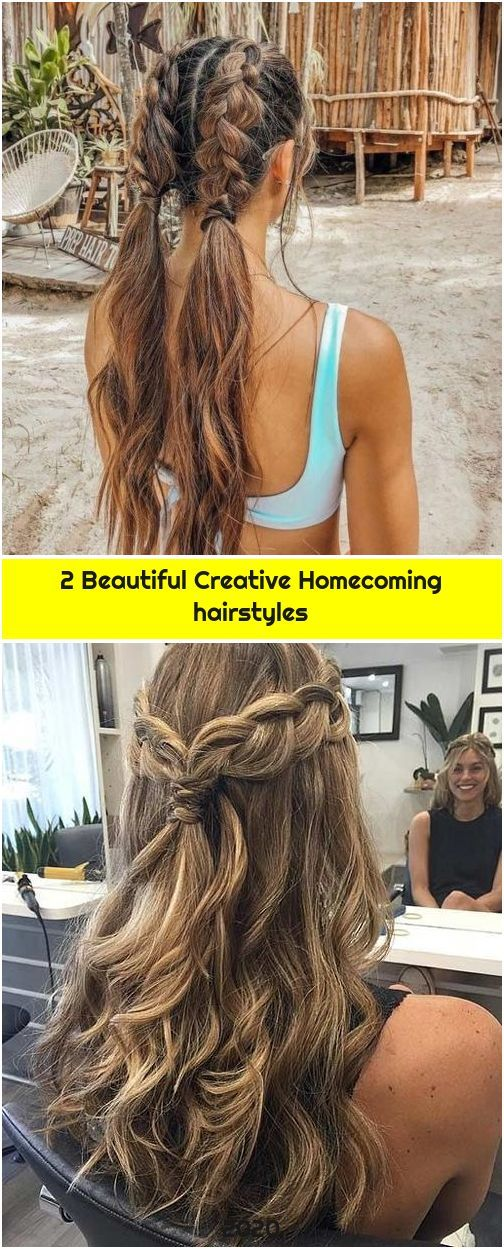 2 Beautiful Creative Homecoming hairstyles
