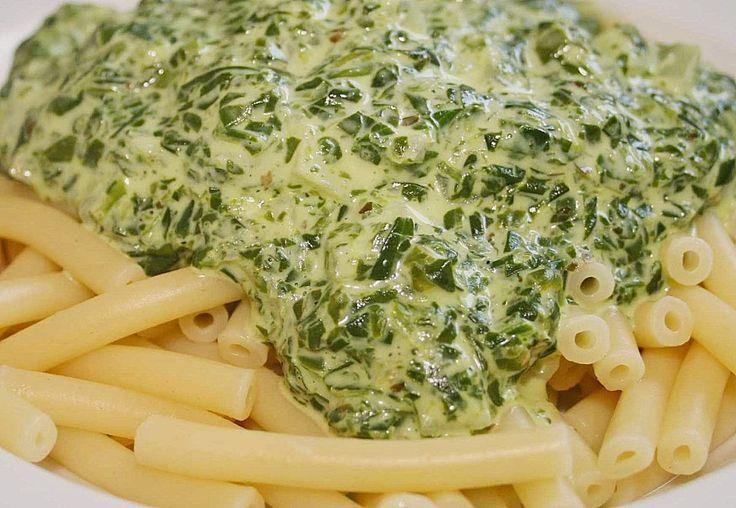 Spinat - Frischkäse - Soße #chickenalfredo