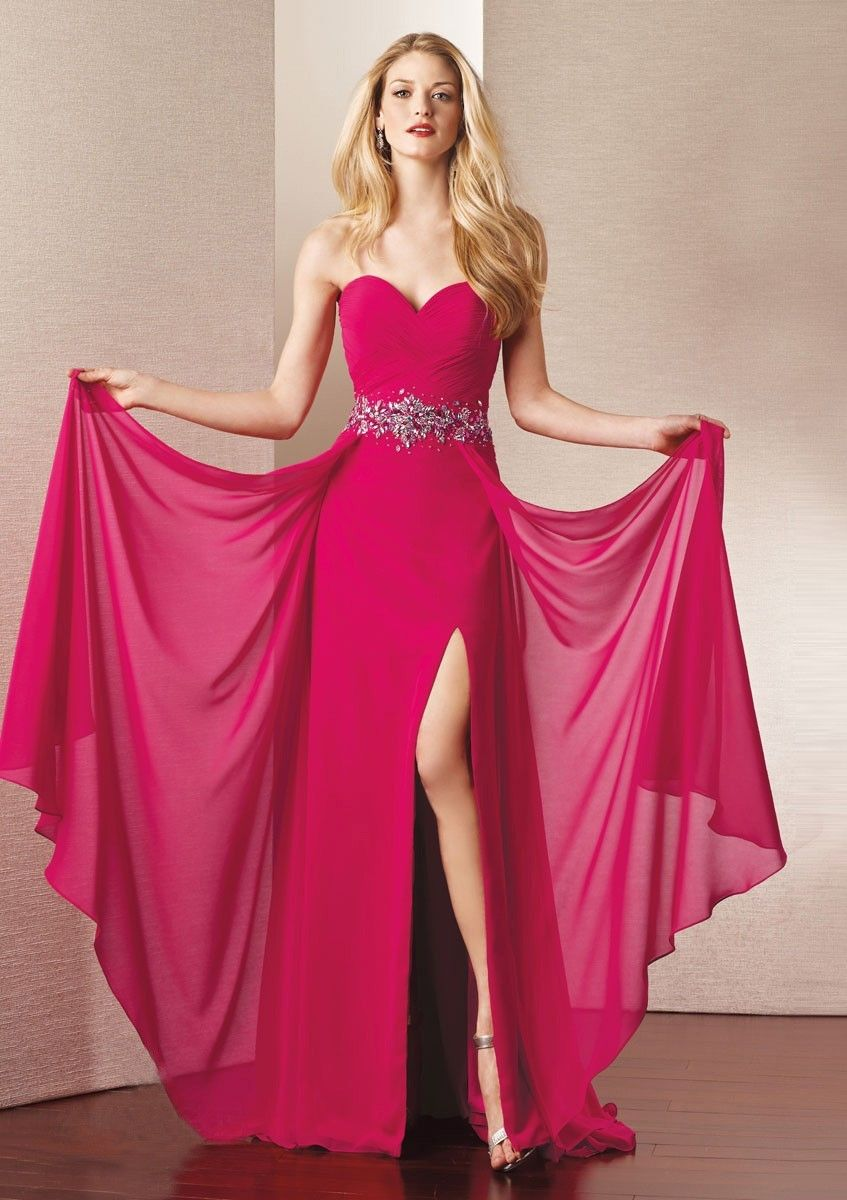 Lange Schöne Abendrobe Fuchsia | Dresses | Pinterest | Vestidos de ...