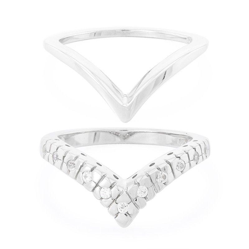 bc53cb12d045da Forme géométriques - Bague pour femme sertie de Zircons véritables - Bijou  en argent - Juwelo
