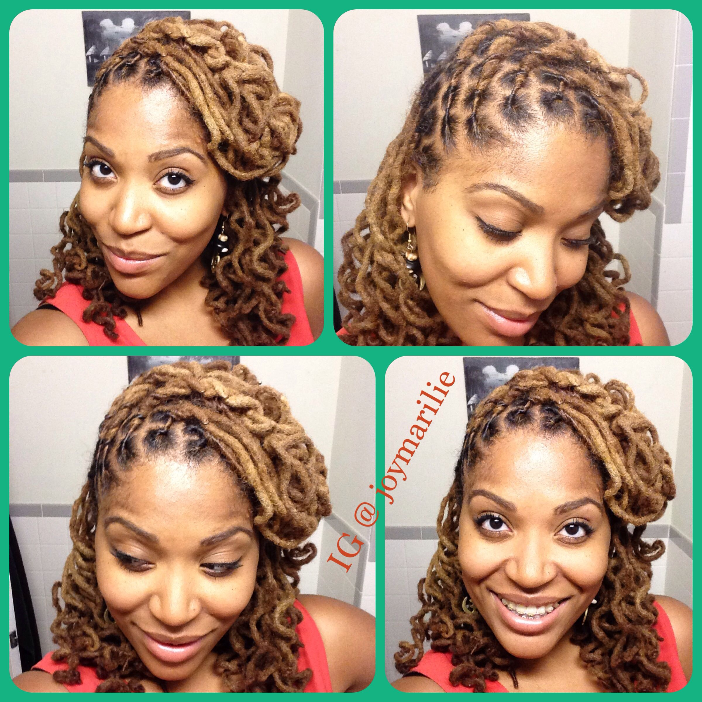simple locs style. side sweep