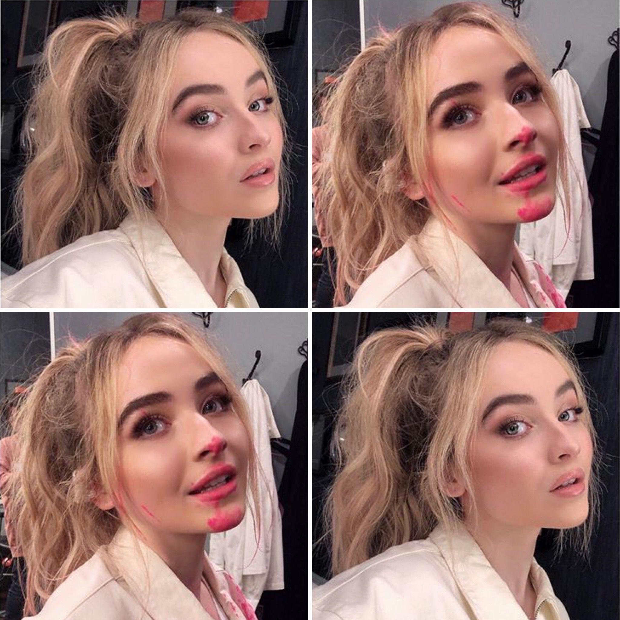 2018 Sabrina Carpenter before and after photos by make