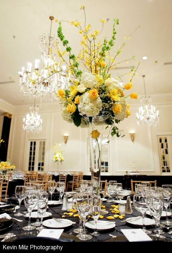 Large scale centerpiece with roses spider mums hydrangea