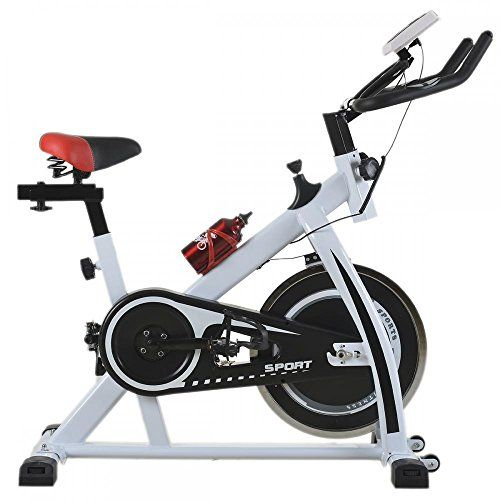 da1f3b5f8f9 White Cycling Trainer Fitness Exercise Bike Stationary Cardio Home Indoor