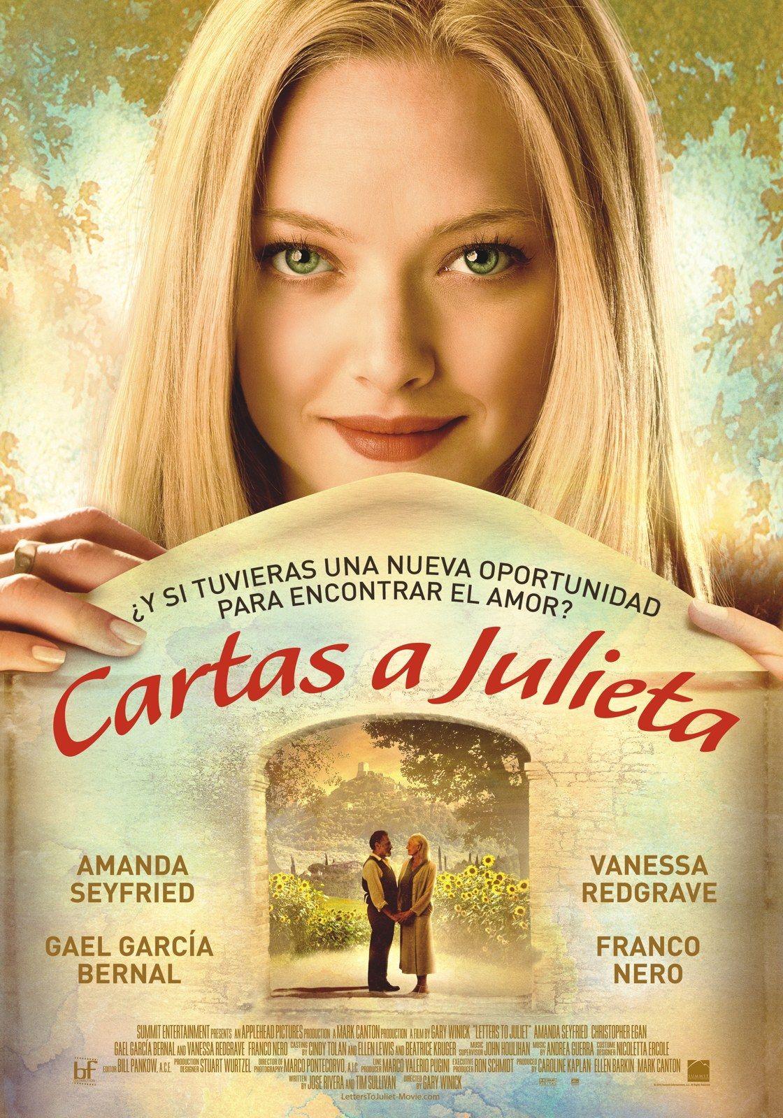 Cartas A Julieta 2010 Latino Castellano Subtitulada Sophie Amanda Seyfried Y Victor Cartas A Julieta Cartas A Julieta Pelicula Peliculas Completas