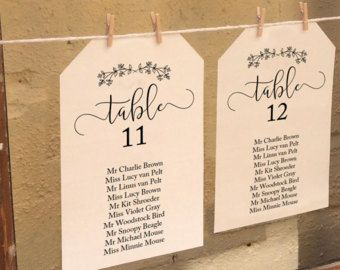 Printable Wedding Seating Plan Template with an option to crop