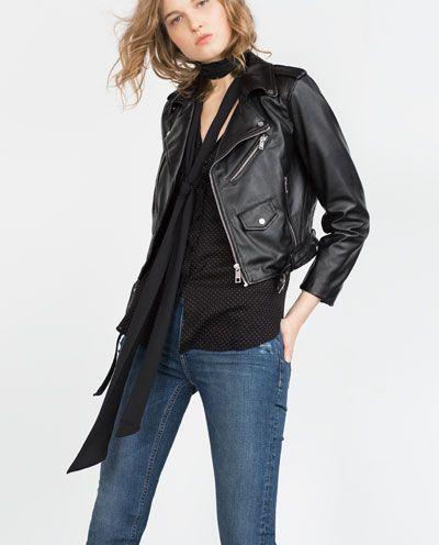 faux leather jacketjacketswoman zara united states