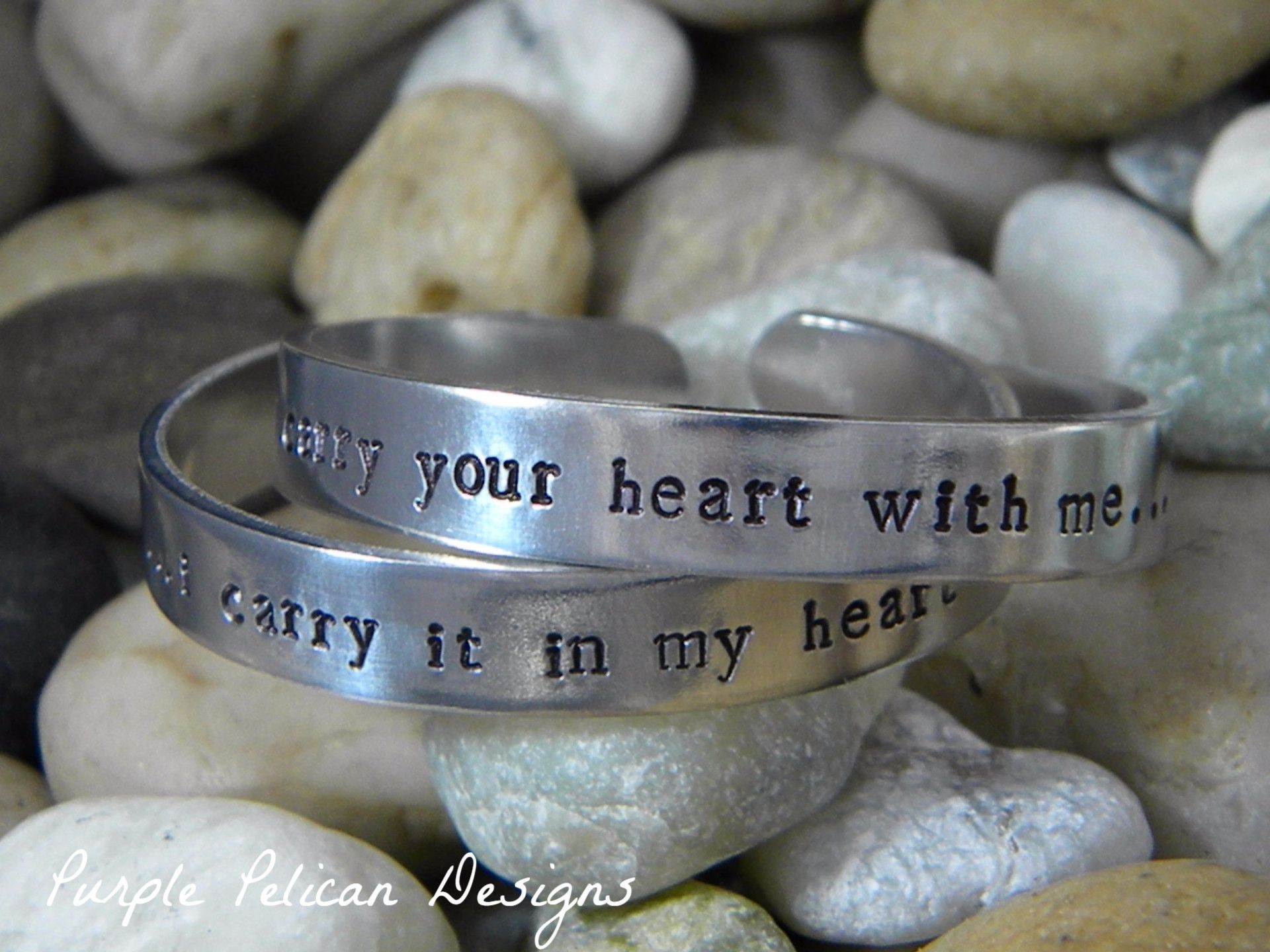 I carry your heart with me bracelet set bracelet set